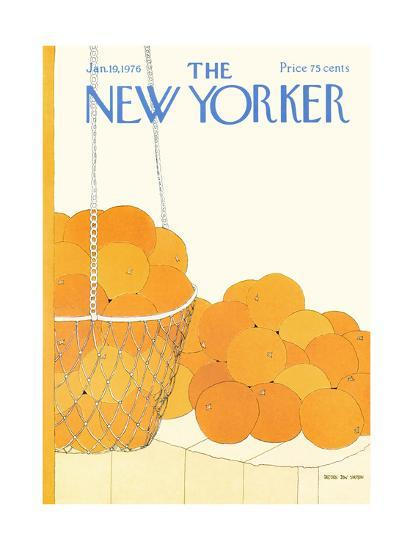 The New Yorker Cover - January 19, 1976-Gretchen Dow Simpson-Premium Giclee Print