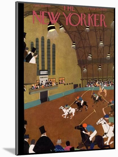 The New Yorker Cover - January 20, 1934-Adolph K. Kronengold-Mounted Premium Giclee Print