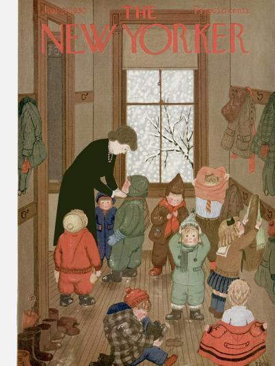 The New Yorker Cover - January 21, 1950-Edna Eicke-Premium Giclee Print