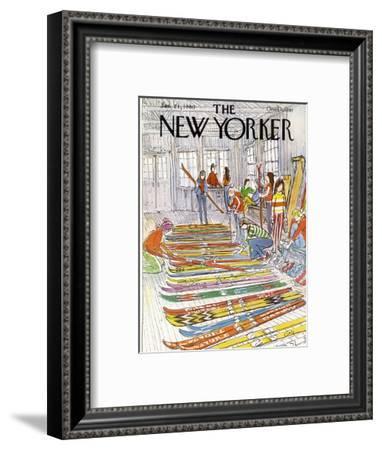 The New Yorker Cover - January 21, 1980-Arthur Getz-Framed Premium Giclee Print