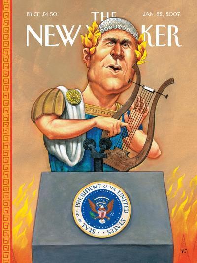 The New Yorker Cover - January 22, 2007-Anita Kunz-Premium Giclee Print