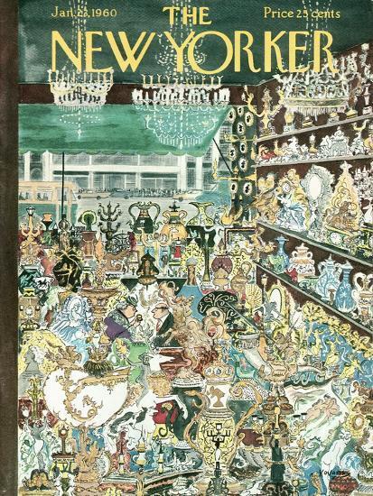 The New Yorker Cover - January 23, 1960-Anatol Kovarsky-Premium Giclee Print