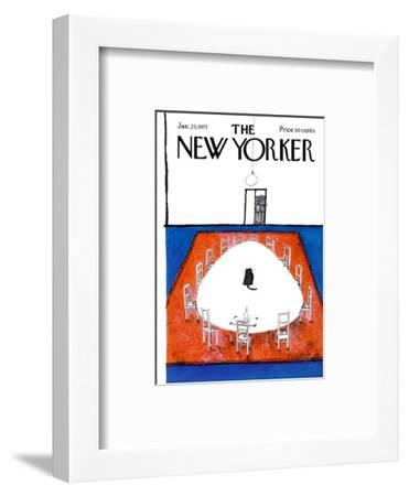 The New Yorker Cover - January 23, 1971-Ronald Searle-Framed Premium Giclee Print
