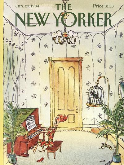The New Yorker Cover - January 23, 1984-George Booth-Premium Giclee Print