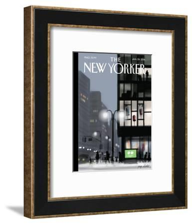 The New Yorker Cover - January 24, 2011-Jorge Colombo-Framed Premium Giclee Print