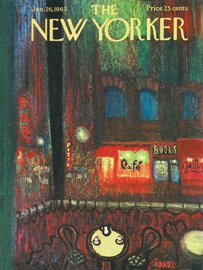 The New Yorker Cover - January 26, 1963-Robert Kraus-Premium Giclee Print