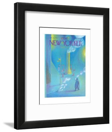 The New Yorker Cover - January 26, 1976-Eugène Mihaesco-Framed Premium Giclee Print