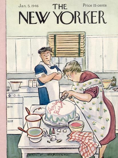 The New Yorker Cover - January 5, 1946-Helen E. Hokinson-Premium Giclee Print