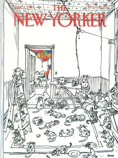 The New Yorker Cover - January 5, 1981-George Booth-Premium Giclee Print