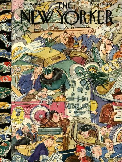 The New Yorker Cover - January 6, 1934-Perry Barlow-Premium Giclee Print