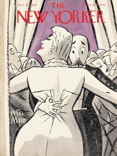 The New Yorker Cover - January 6, 1940-Peter Arno-Premium Giclee Print