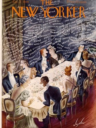 The New Yorker Cover - January 7, 1939-Constantin Alajalov-Premium Giclee Print
