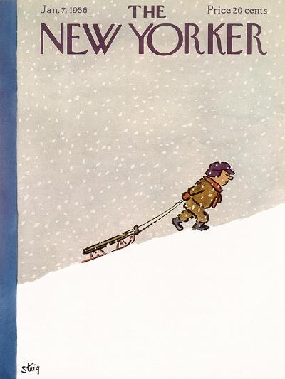 The New Yorker Cover - January 7, 1956-William Steig-Premium Giclee Print