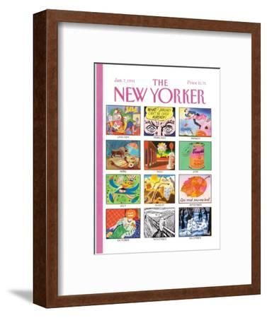 The New Yorker Cover - January 7, 1991-Kenneth Mahood-Framed Premium Giclee Print
