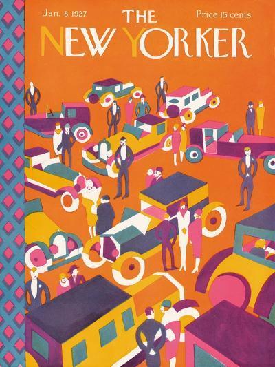 The New Yorker Cover - January 8, 1927-Ilonka Karasz-Premium Giclee Print