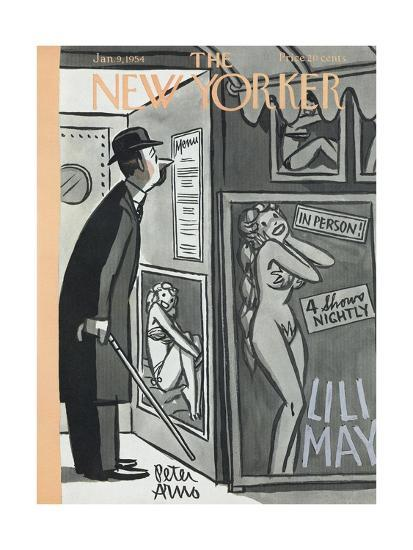 The New Yorker Cover - January 9, 1954-Peter Arno-Premium Giclee Print