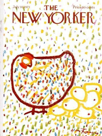 The New Yorker Cover - July 10, 1971-Andre Francois-Premium Giclee Print