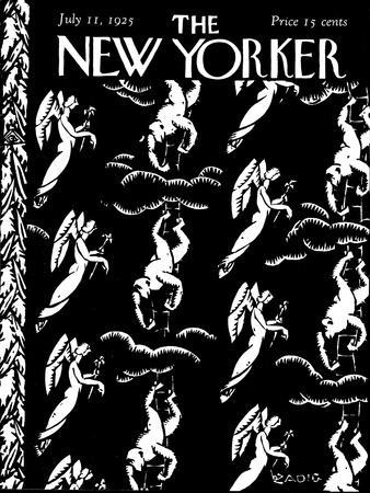 The New Yorker Cover - July 11, 1925-Bertrand Zadig-Premium Giclee Print