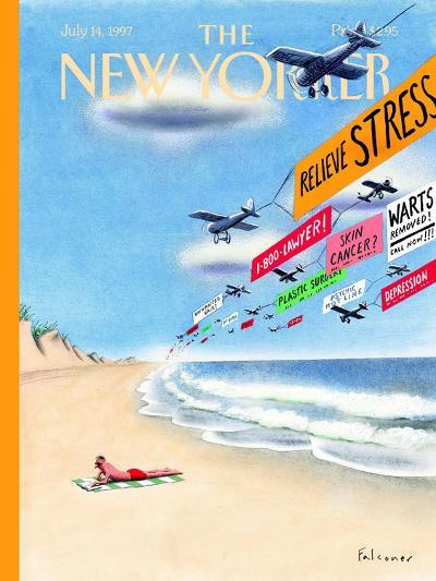 The New Yorker Cover - July 14, 1997-Ian Falconer-Premium Giclee Print