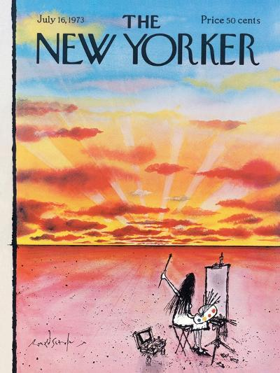 The New Yorker Cover - July 16, 1973-Ronald Searle-Premium Giclee Print