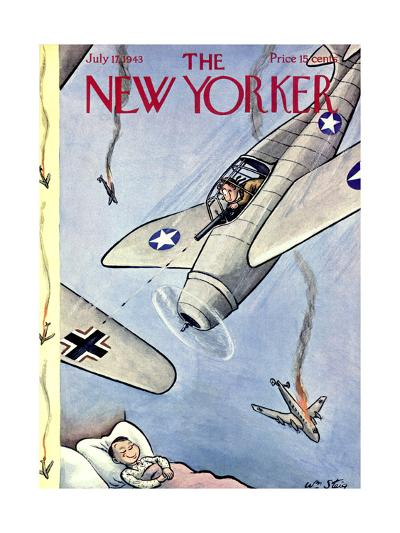 The New Yorker Cover - July 17, 1943-William Steig-Premium Giclee Print