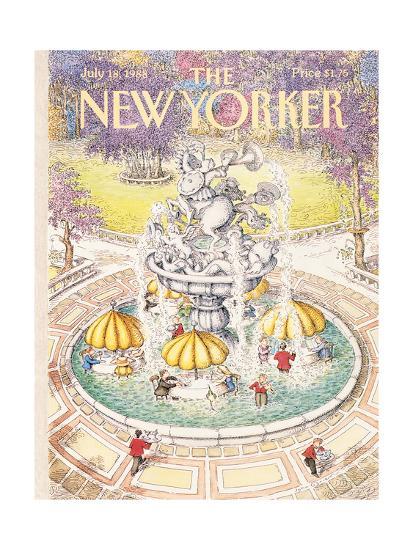 The New Yorker Cover - July 18, 1988-John O'brien-Premium Giclee Print