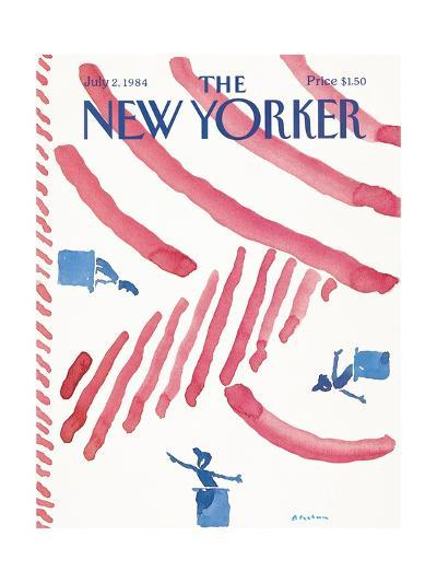 The New Yorker Cover - July 2, 1984-R.O. Blechman-Premium Giclee Print