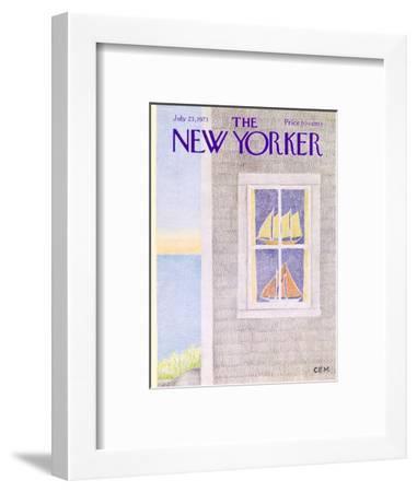 The New Yorker Cover - July 23, 1973-Charles E. Martin-Framed Premium Giclee Print