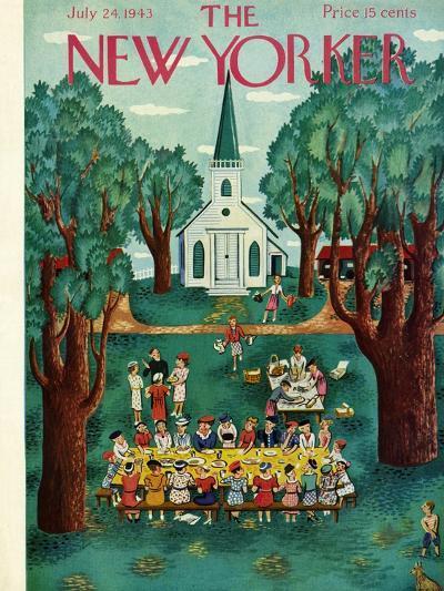 The New Yorker Cover - July 24, 1943-Ilonka Karasz-Premium Giclee Print