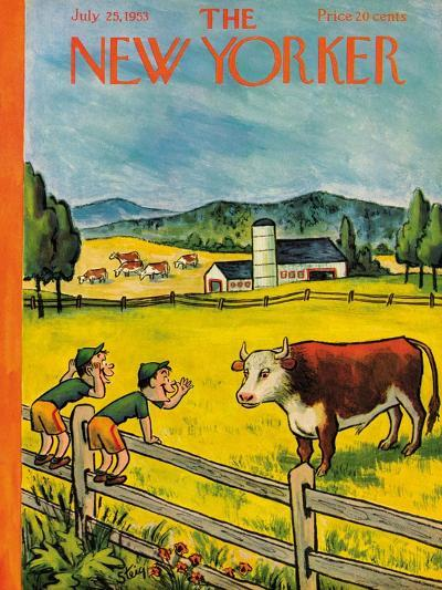 The New Yorker Cover - July 25, 1953-William Steig-Premium Giclee Print
