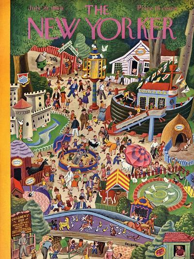 The New Yorker Cover - July 29, 1944-Tibor Gergely-Premium Giclee Print