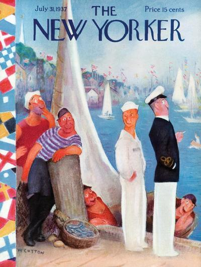 The New Yorker Cover - July 31, 1937-William Cotton-Premium Giclee Print