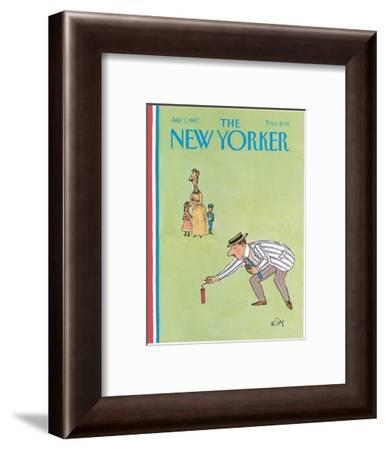 The New Yorker Cover - July 5, 1982-William Steig-Framed Premium Giclee Print