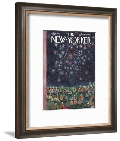The New Yorker Cover - July 6, 1957-Ilonka Karasz-Framed Premium Giclee Print