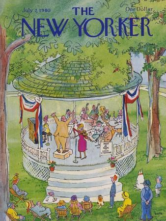 The New Yorker Cover - July 7, 1980-George Booth-Premium Giclee Print