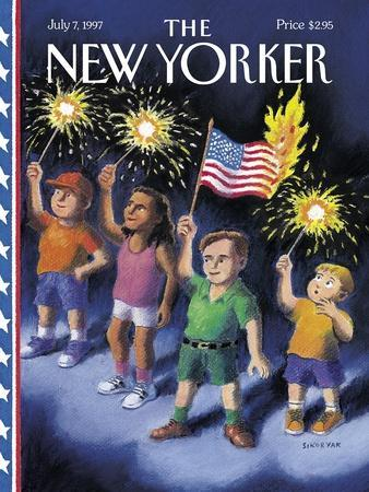 The New Yorker Cover - July 7, 1997-R. Sikoryak-Premium Giclee Print