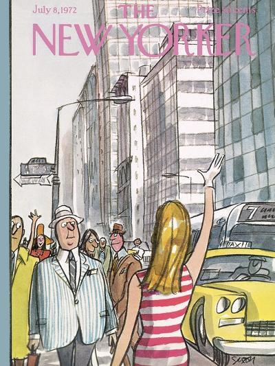 The New Yorker Cover - July 8, 1972-Charles Saxon-Premium Giclee Print