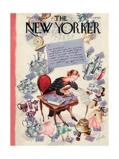 The New Yorker Cover - June 11, 1938-Constantin Alajalov-Premium Giclee Print