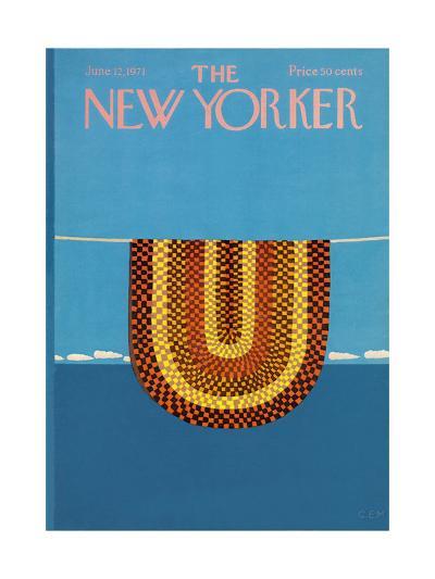 The New Yorker Cover - June 12, 1971-Charles E. Martin-Premium Giclee Print