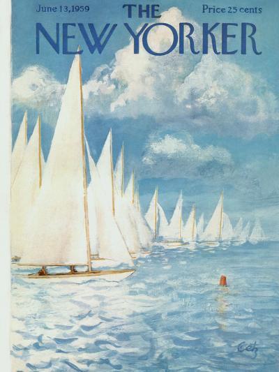 The New Yorker Cover - June 13, 1959-Arthur Getz-Premium Giclee Print