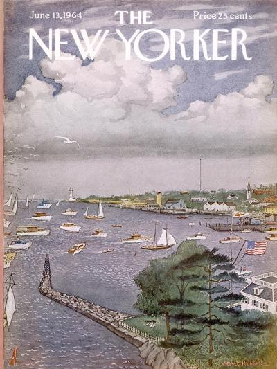 The New Yorker Cover - June 13, 1964-Albert Hubbell-Premium Giclee Print