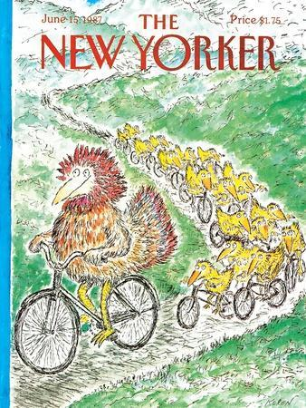 The New Yorker Cover - June 15, 1987-Edward Koren-Premium Giclee Print