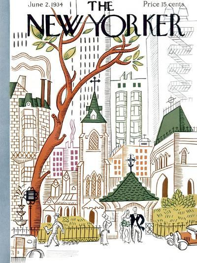 The New Yorker Cover - June 2, 1934-Harry Brown-Premium Giclee Print