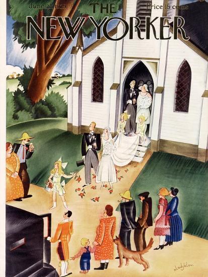 The New Yorker Cover - June 22, 1929-Constantin Alajalov-Premium Giclee Print