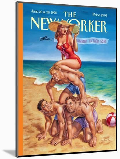 The New Yorker Cover - June 22, 1998-Owen Smith-Mounted Premium Giclee Print