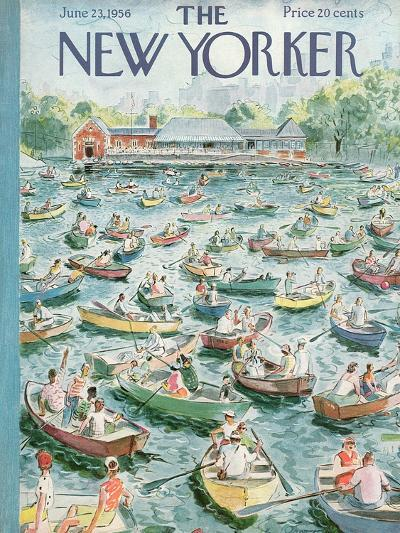 The New Yorker Cover - June 23, 1956-Garrett Price-Premium Giclee Print