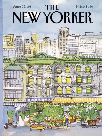 The New Yorker Cover - June 25, 1984-Barbara Westman-Premium Giclee Print