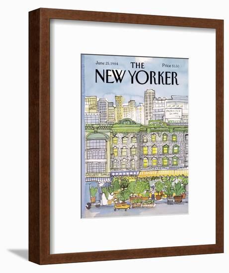 The New Yorker Cover - June 25, 1984-Barbara Westman-Framed Premium Giclee Print