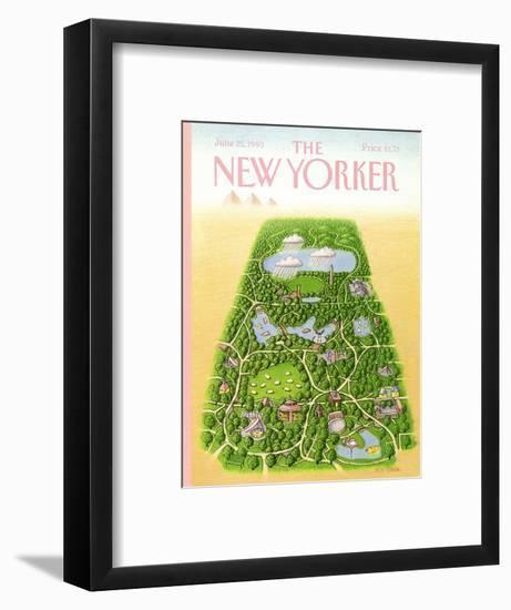 The New Yorker Cover - June 25, 1990-Bob Knox-Framed Premium Giclee Print