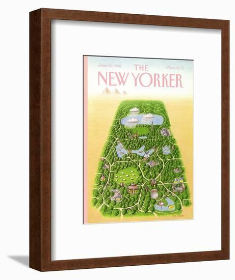 The New Yorker Cover - June 25, 1990-Bob Knox-Framed Premium Giclee Print